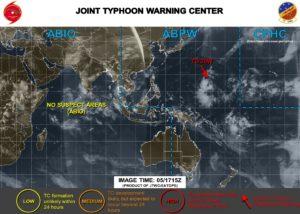 台風19号 米軍進路予想